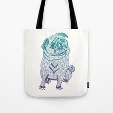 Duotone Pug Tote Bag