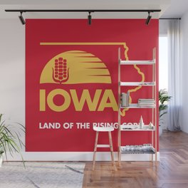Iowa: Land of the Rising Corn - Red and Gold Edition Wall Mural