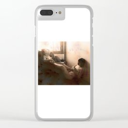 """""""The day after felt so right"""" Clear iPhone Case"""