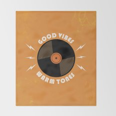 Good Vibes and Warm Tones Throw Blanket