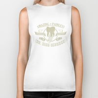 dentist Biker Tanks featuring Amazing and Painless Surgeon Dentist Dr King Schules by jekonu