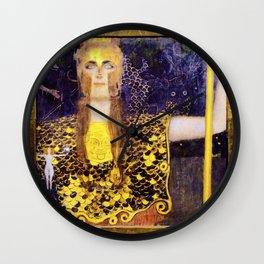 Gustav Klimt - Pallas Athena - Digital Remastered Edition Wall Clock