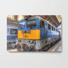 H-Start Train Keleti Station Metal Print