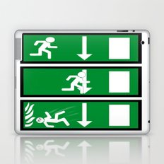 Fire Exit Funny. Laptop & iPad Skin