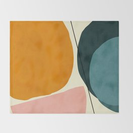 shapes geometric minimal painting abstract Throw Blanket