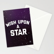 Wish Upon Star Quote Stationery Cards