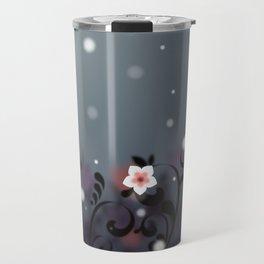 Pink and white flowers - Elegant Travel Mug