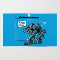 robocop Area & Throw Rugs featuring NOW WHAT? by Letter_q