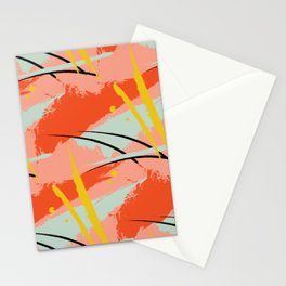 Rainbow Colorful abstract print Stationery Cards