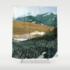 Experiment am Berg 21 Shower Curtain