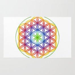 Rainbow Flower of Life - Rainbow Tribe Collection Rug