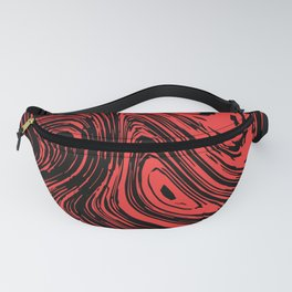 Red and black marble pattern Fanny Pack