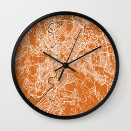 Rome Italy Map | Coffee & Green | More Colors, Review My Collections Wall Clock