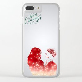 SwanQueen Christmas Edition Clear iPhone Case