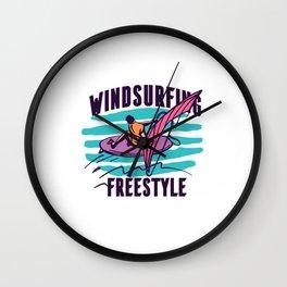 Windsurfing Freesstyle Wall Clock