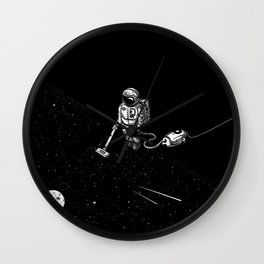 Space Clean Up by Astronaut Wall Clock