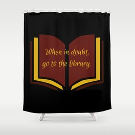 The Library at Nighttime Shower Curtain