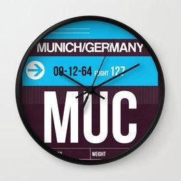 MUC Munich Luggage Tag 1 Wall Clock