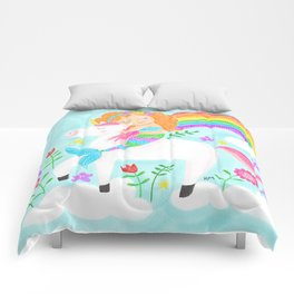 Unicorns, Mermaids & Rainbows...Oh My! Comforters