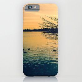 Going Home (Winter Lake at Dusk) iPhone Case