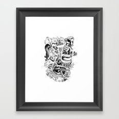 Skull - Inktober 2013 Framed Art Print