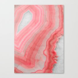Coral Pink Agate Canvas Print
