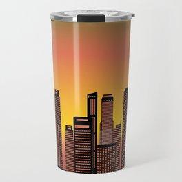 Singapore evening skyline Travel Mug