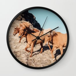 WILD HORSES #2 Wall Clock