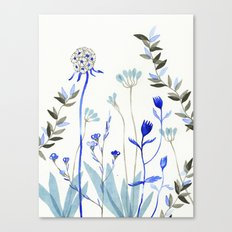 Blue Garden Canvas Print