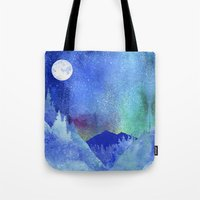 northern lights Tote Bags featuring Northern Lights by Ricardo Moody
