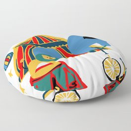 Circus Fun white Floor Pillow