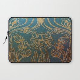 Art Nouveau,teal and gold Laptop Sleeve