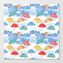Umbrella Spring Canvas Print