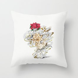 The girl who tried to save Christmas Throw Pillow