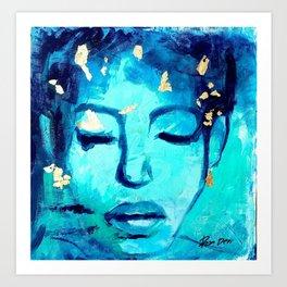 Lady Painting , Large Painting, Large art, Acrylic painting, Painting on canvas, Large art Art Print