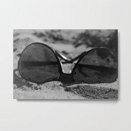 Sunglasses on the Beach Metal Print