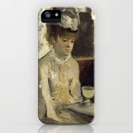 In a café (or  L'Absinthe) iPhone Case