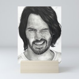 Keanu Reeves Mini Art Print