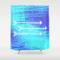 arrows Shower Curtains featuring Arrows by HollyJonesEcu