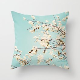 Spring Willows Throw Pillow