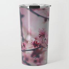 Pink Cherry Blossom On Branch Travel Mug