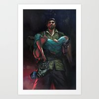 last of us Art Prints featuring Last of us by Leksotiger