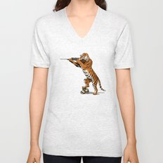 The Hunted becomes the Hunter Unisex V-Neck