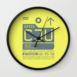 Baggage Tag C - CJU Jeju International South Korea Wall Clock