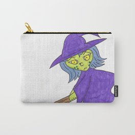Little Witch on broom Carry-All Pouch
