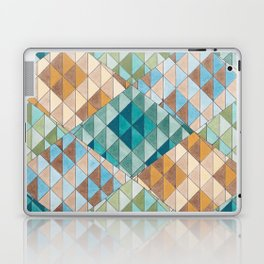 Triangle Patter No.15 Shifting Teal and Yellow Laptop & iPad Skin