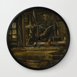 A Weaver's Cottage Wall Clock