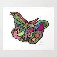 Abstract Dragon Art Print