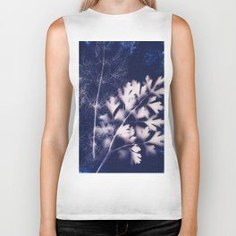 Silhouette of Parsley and Fennel Biker Tank
