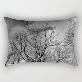 Trees and clouds, black and white Rectangular Pillow